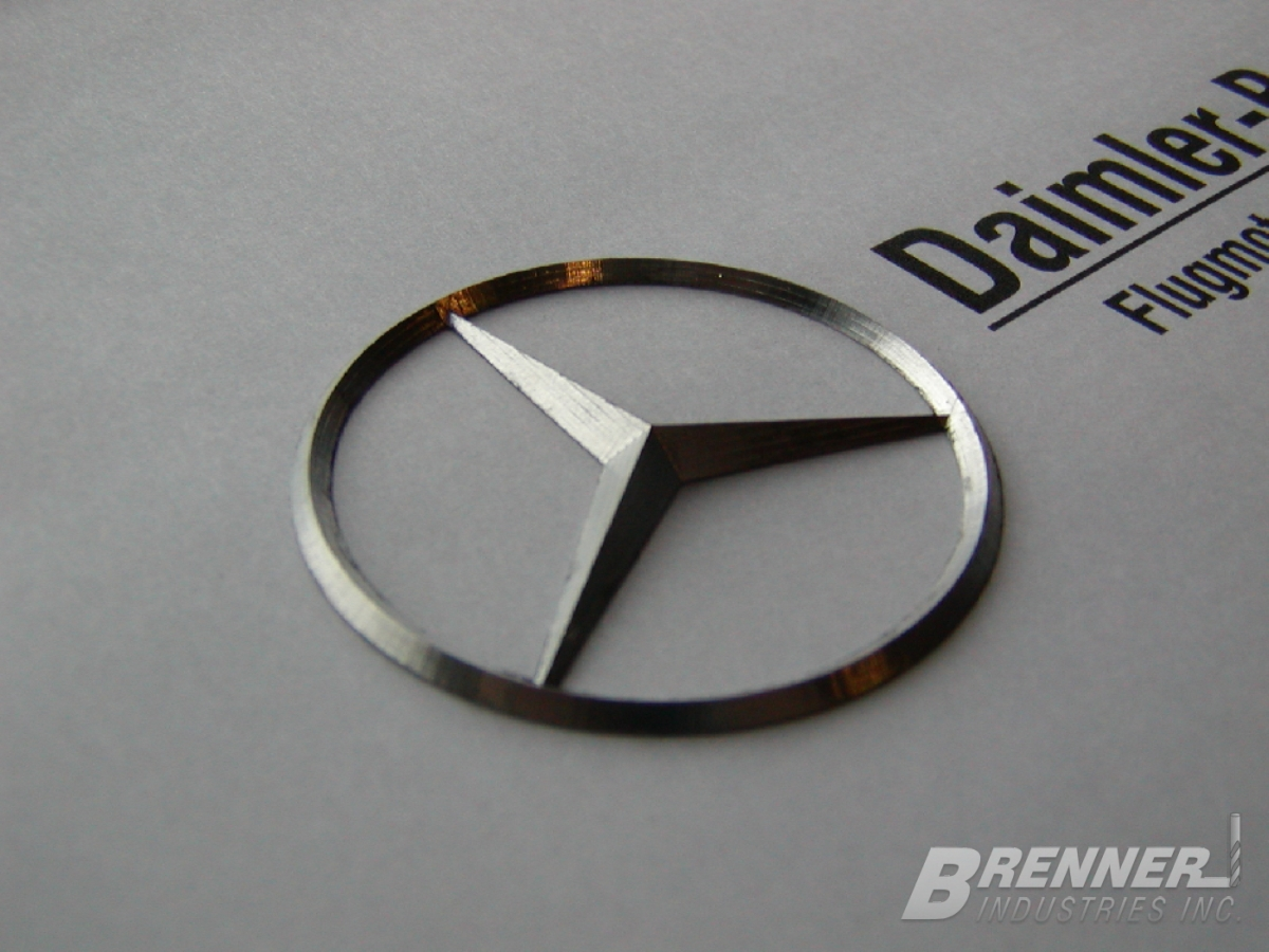 Daimler Benz logo 3D historical museum recreation engraving engraved engravers Brenner Milwaukee