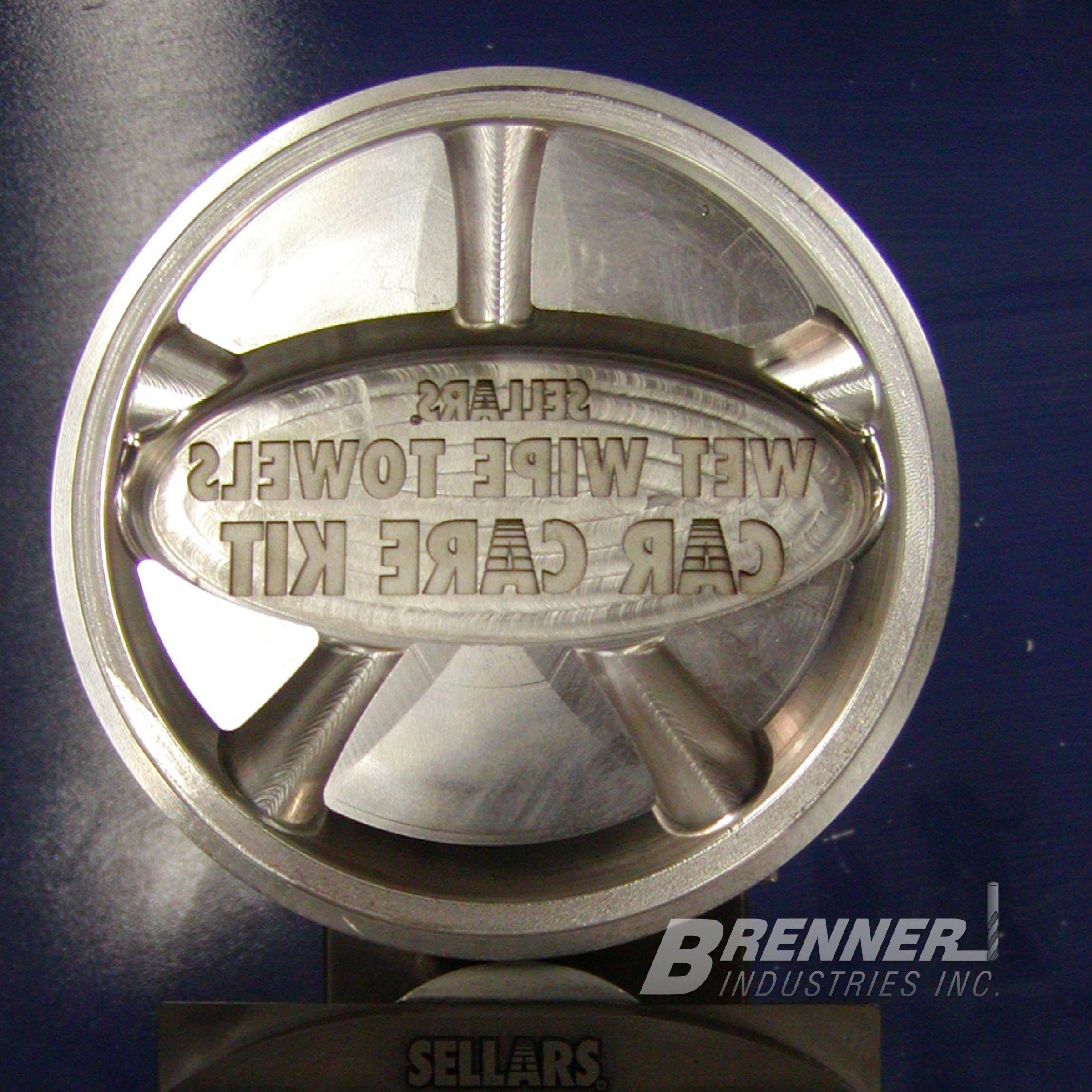 Brenner Industries Industrial Mold Die Tool Stamping Machining Engraving Engravers Service Texture Polish Insert Inserts Components Plastic Injection Forming Metal Working Forging Cast Casting Castings Automotive Firearm Agricultural Cookware Marking Identification ID I.D. Part Number Logo Revision Brand Branding OEM Artwork Vector Company OEM O.E.M. Manufacturing Manufacturers Association Guild CNC EDM mill milling milled Hardened tool steel CMP PM A2 D2 S7 M4 A-2 D-2 S-7 M-4 DC-53 DC53 rapid ton tonne tonnage press draw blank blanking tooling production high multiple cavity revision core pin pins ejector instruction instructions communication communications words cutting cutter cutters hardmilling aluminum brass metal steel copper bronze work workers USA U.S.A. Milwaukee Wisconsin WI MKE Journeyman CAD CAM MasterCAM SolidWorks Master Solid 3D three dimensional modeling model direct